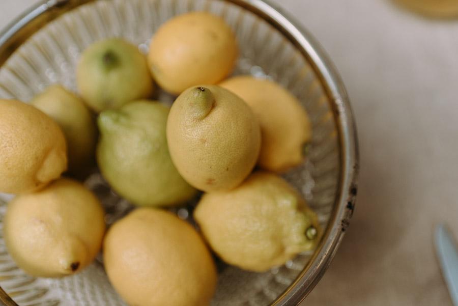 Holunderblütensirup Zitronen