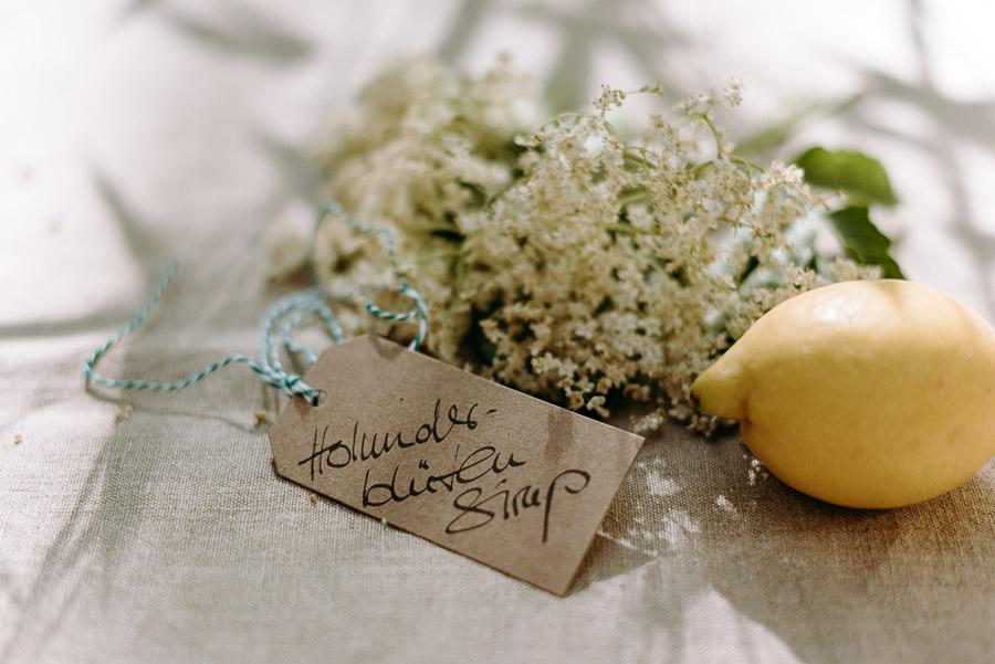 Holunderblütensirup Etikett